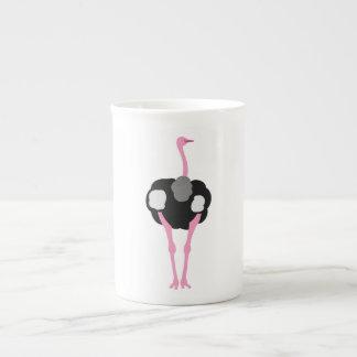 Xícara De Chá Pássaro da avestruz