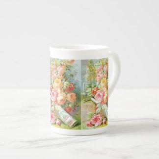 Xícara De Chá Perfume da água de Florida com rosas da couve