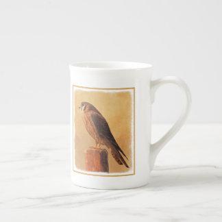 Xícara De Chá Pintura americana do Kestrel - arte original do