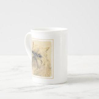 Xícara De Chá Pintura de Bruxelas Griffon - arte original bonito