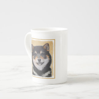 Xícara De Chá Pintura de Shiba Inu (preto e Tan) - arte do cão