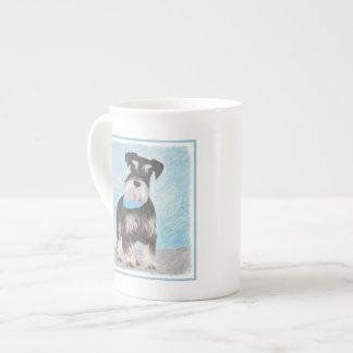 Xícara De Chá Pintura (diminuta) do Schnauzer - cão original