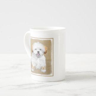 Xícara De Chá Pintura do filhote de cachorro de Lhasa Apso -