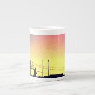 Xícara De Chá ponte do por do sol