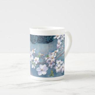 Xícara De Chá Porcelana de osso do Dogwood