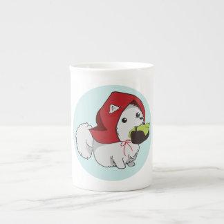 Xícara De Chá Pouco filhote de cachorro vermelho da equitação