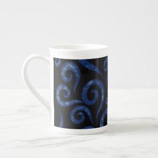 Xícara De Chá Redemoinhos Textured azuis