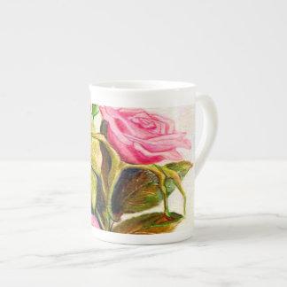 Xícara De Chá Rosas atrasados do primavera