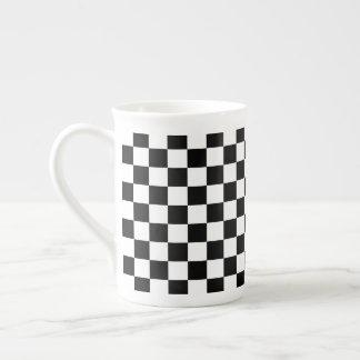 Xícara De Chá Tabuleiro de damas preto e branco