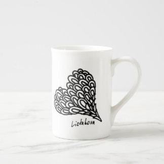 Xícara De Chá Teacup de China de osso do amor de Listakora