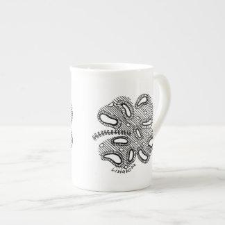Xícara De Chá Teacup lunático de China de osso do trevo de