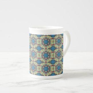 Xícara De Chá Teste padrão floral étnico abstrato colorido de da