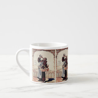 Xícara De Espresso 1892 licores bonitos da monge