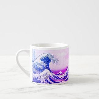 Xícara De Espresso A grande onda fora de Kanagawa