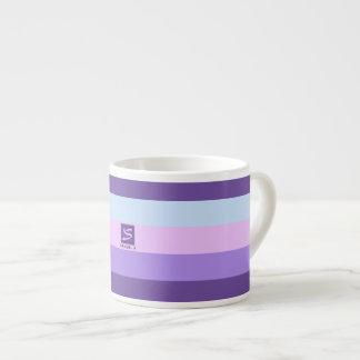 Xícara De Espresso A lavanda delicada sonha o monograma da paleta de