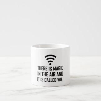 Xícara De Espresso A mágica no ar é Wifi
