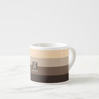 Xícara De Espresso A paleta de cores de Latte do Mocha listra o