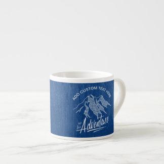Xícara De Espresso Acima para das montanhas ID358 branco da aventura
