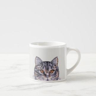 Xícara De Espresso Amigo do café do café do gato malhado 6oz do gato