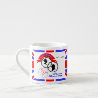 Xícara De Espresso Aniversário do 70 do príncipe Philip da rainha