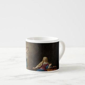 Xícara De Espresso Anjo e Mary do aviso