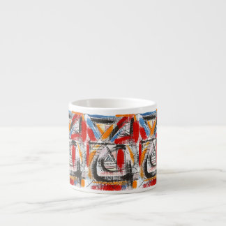 Xícara De Espresso Arte abstracta pintada terceira Olho-Mão
