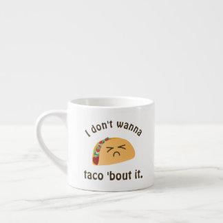 Xícara De Espresso Ataque do Taco 'ele humor engraçado da chalaça da