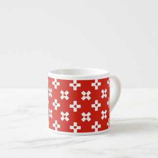 Xícara De Espresso Bandeira da suiça com teste padrão do coração