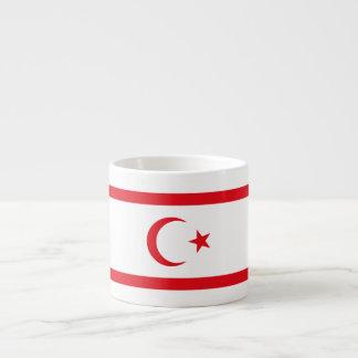 Xícara De Espresso Bandeira do norte de Chipre