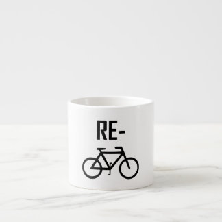 Xícara De Espresso Bicicleta da bicicleta do reciclar