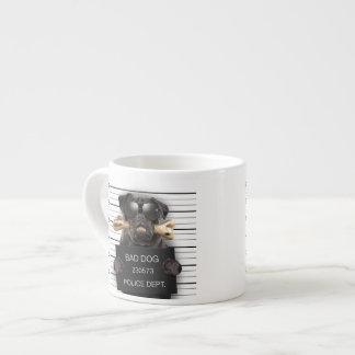 Xícara De Espresso Cão do Mugshot, pug engraçado, pug