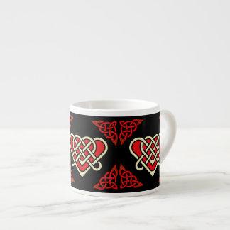 Xícara De Espresso Céltico de Scotalnd/coração trançado