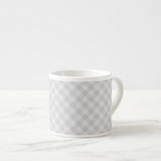 Xícara De Espresso Copo cinzento Pastel do café do Tartan