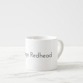 """Xícara De Espresso """"Copo de café do Redhead médio"""""""