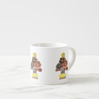 Xícara De Espresso Copo de Expresso da árvore de Natal de Steampunk