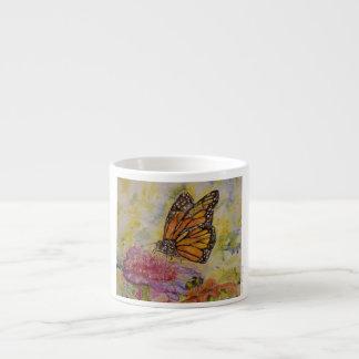 Xícara De Espresso Copo do café da arte da aguarela da borboleta