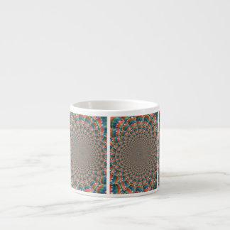 Xícara De Espresso Copo do café da arte do caleidoscópio