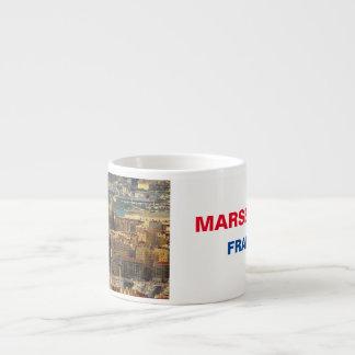 Xícara De Espresso Copo do café do panorama de Marselha France