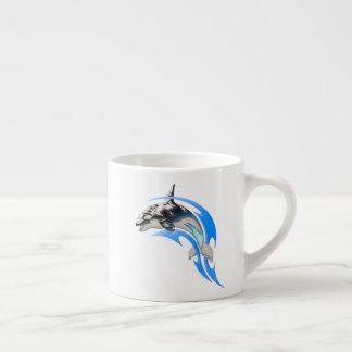 Xícara De Espresso Copo tribal do café da orca