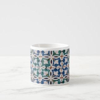 Xícara De Espresso Copos Mudejar do café do teste padrão do azulejo