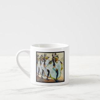 Xícara De Espresso Dançarinos do Cancan