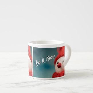 Xícara De Espresso Deixais lhe para nevar copo de café do Natal do