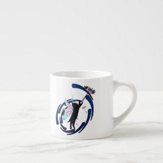 Xícara De Espresso Dente-de-leão cósmico do gato