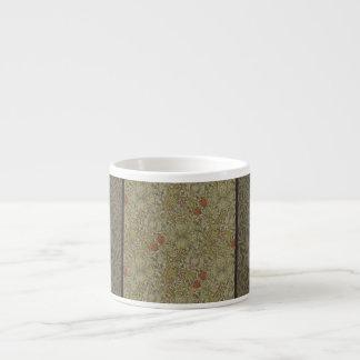 Xícara De Espresso Design floral do impressão da arte do salgueiro do