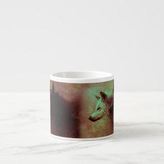 Xícara De Espresso dois lobos - lobo da pintura