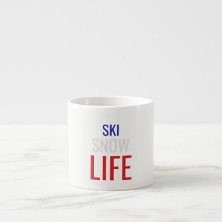 Xícara De Espresso Esqui, neve, vida