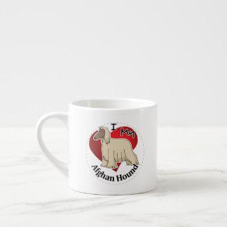 Xícara De Espresso Eu amo meu galgo afegão engraçado & bonito