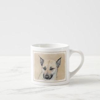 Xícara De Espresso Filhote de cachorro de Chinook (orelhas aguçado)