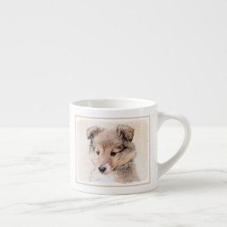 Xícara De Espresso Filhote de cachorro do Sheepdog de Shetland