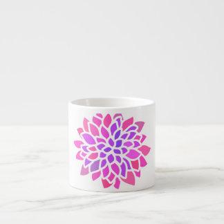 Xícara De Espresso flor retro moderna roxa cor-de-rosa